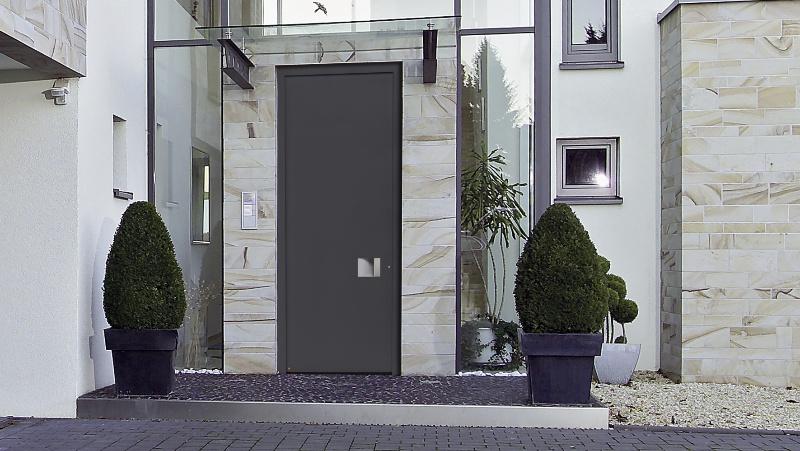 Portes DEntre Grande Hauteur En Aluminium Hrmann Pour Une Entre