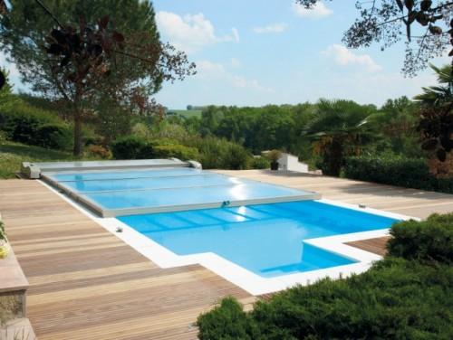 L abri de piscine plat motoris abrisud abrisud for Abri de piscine abrisud
