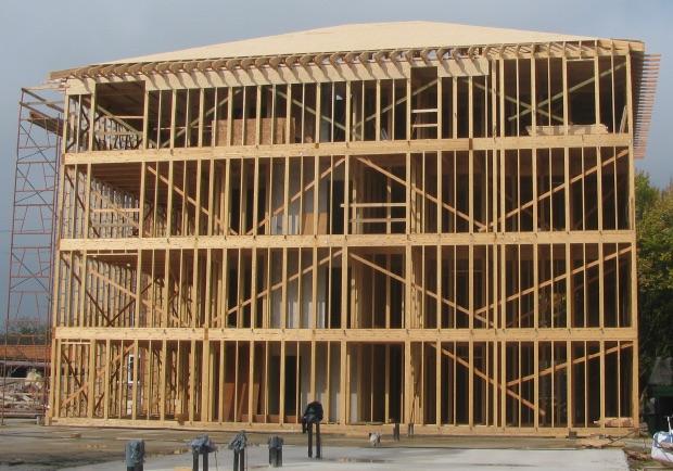 Constructions ossature bois 2 0 une ossature bois solide for Immeuble bureaux structure bois