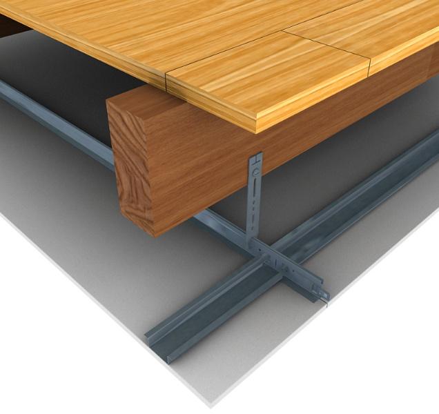 chicago metallic et promat international ont labor un syst me de plafond suspendu simple. Black Bedroom Furniture Sets. Home Design Ideas