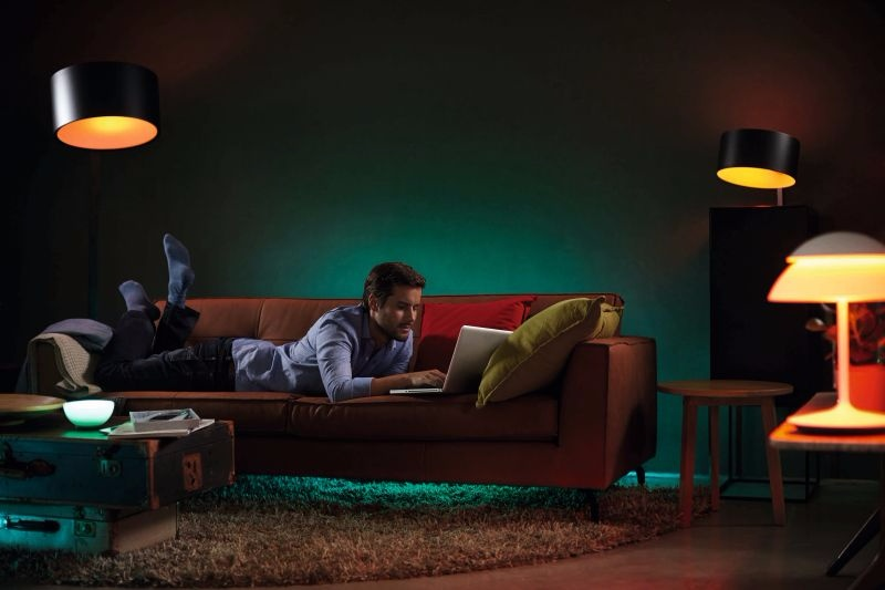 Gepersonaliseerde draadloze verlichting van Philips Hue op de Light ...