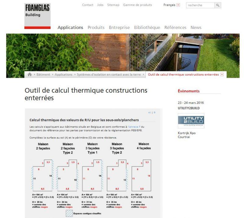outil de calcul en ligne pour l 39 isolation des constructions souterraines foamglas. Black Bedroom Furniture Sets. Home Design Ideas