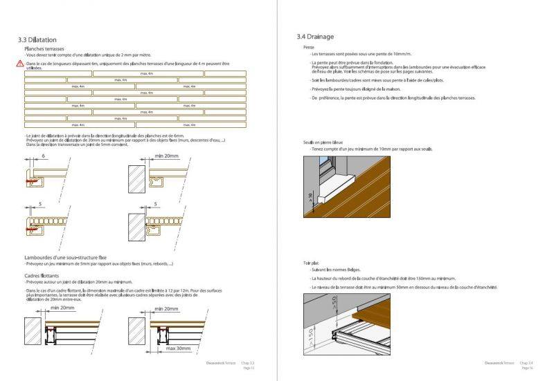 guide d'installation de terrasse en bois dur